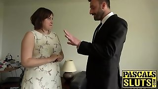 Plump lady Laura Louise gets hatch fucked and rough sex