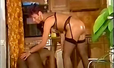 Kitchen Work French Style (Strap On Dildo and Fist)