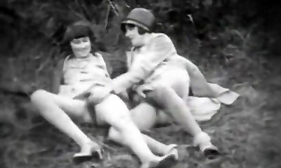 Teen Beauty and Her Perverted Childminder (1920s Vintage)