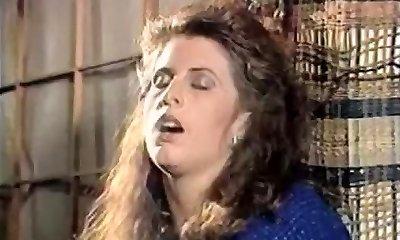 Woman in doorway rubs pussy 80's