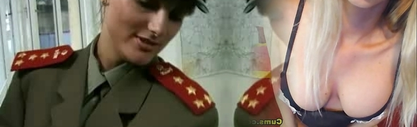 KGB Military Girl Plumbs Recruit ...F70