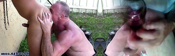 Mature Mickey Collins asslicking Rikk Yorks butt