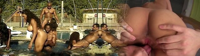 Assfuck and vaginal soiree at the pool