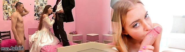 Super-fucking-hot bride has her moist vulva hammered