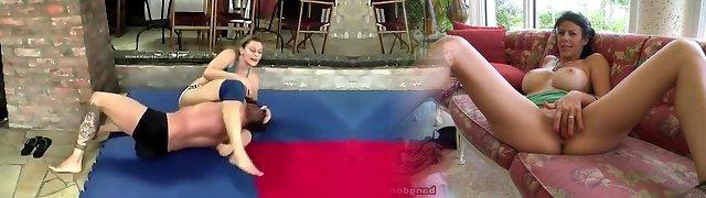 Viktoria mingled wrestling