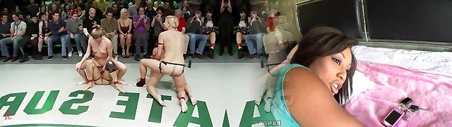 To sexy nude wrestling bitches get fucked with giant long strap-ons
