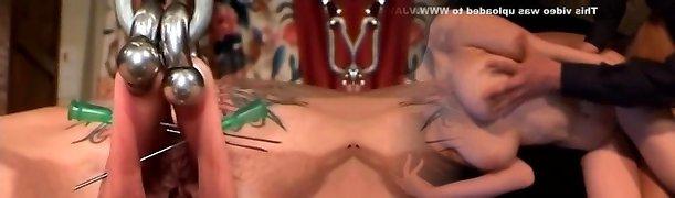 My Fabulous Piercings - pierced Milf slave BDSM action