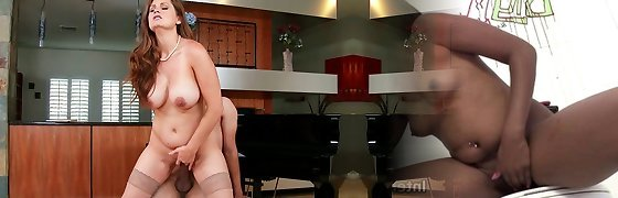 Curvaceous Milf Allison Moore gets banged rock hard in a doggy position