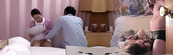 Amazing Asian slut in Fabulous Nurse JAV video