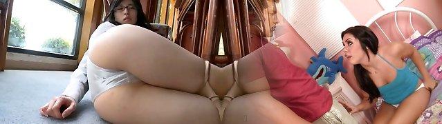Japanese sweetie in glasses Kitatani Yuri reveals her body in lingerie
