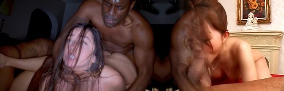 BLACKEDRAW Two Soiree Girls Cheat With BBCs After The Bar