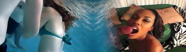 Wondrous  babes fool around with their fellows in the pool