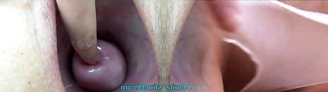 Extreme chick tucking nettles into cervix and rod flowers
