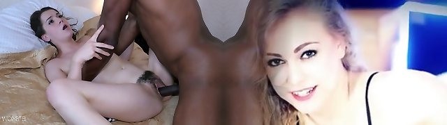Fascinating young doll Kasey Warner is fond of good-sized and meaty black penis
