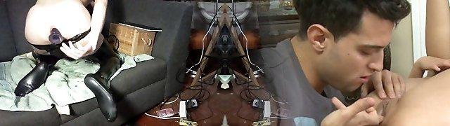 Very Long Dual Anal Dildo Accomplish Full Insert Latex