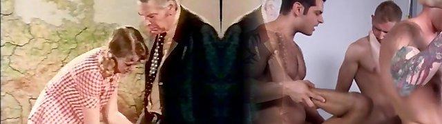 Vintage Elderly Man Fuck in Cabaret