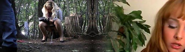 Hidden Cam In Woods Lady Pee Part 8