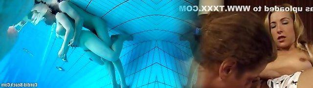 Nudist Couples Underwater Pool Hidden Spy cam Voyeur HD Two