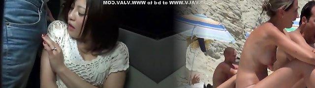 Incredible Japanese gal Misaki Tsukishima, Kotone Amamiya in Greatest Cumshot, Blowjob JAV video