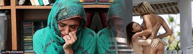 Cute shoplifter lady in a hijab got fucked harshly