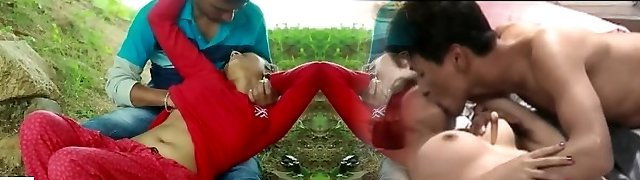 Desi indian chick romantic hook-up in the outdoor jungle - teen99