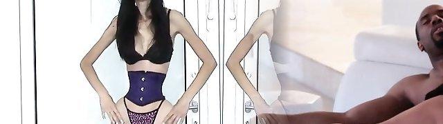 skinny model with wasp waist
