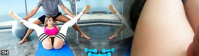 Giselle Palmer & Brad Knight in Pilates - MonsterCurves