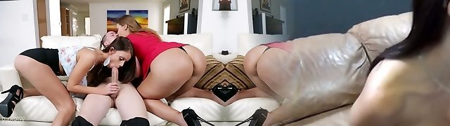 Fortunate dude fucks phat bottomed sexy nanny and horny wife Whitney Westgate