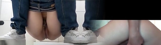 Toilet urinate hidden cam