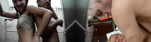 Hot Teen Brunette Faux-cocks On Webcam