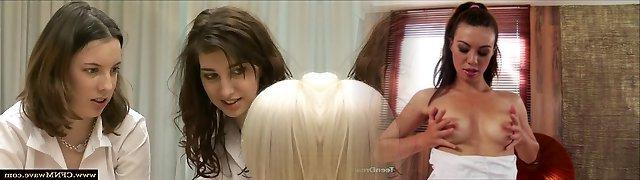Cfnm schoolgirl gets facial