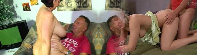 Xxx Omas - German granny Liana B. gets cum on tits after lovemaking