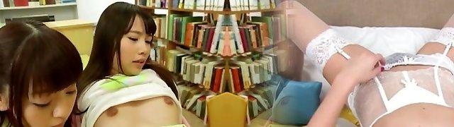 Atomi Shuri Asada Yuuri And Mates Get Creampies In The Library Very Petite