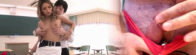 Sumptuous Japanese teacher fucked and facialed by a schoolgirl