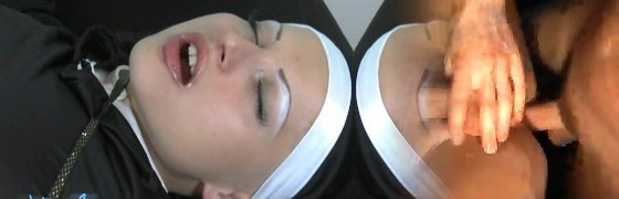 Sinful Nun Gets Her Abdomen and Vag Played With and Tasted