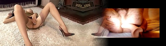 Suntan nylons and big tits