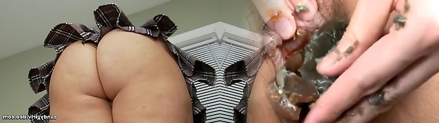 Point Of View Upskirt of Anabelle Pync