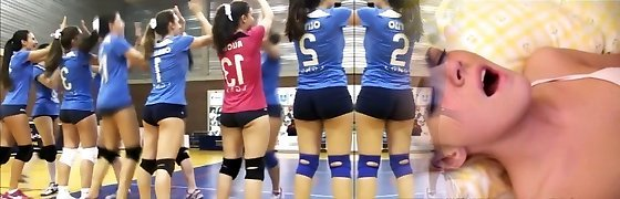 SWEETS donk SWEETS cameltoe on volleyball