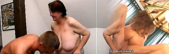 youthfull guy fucks 70 yo ugly fat granny oma