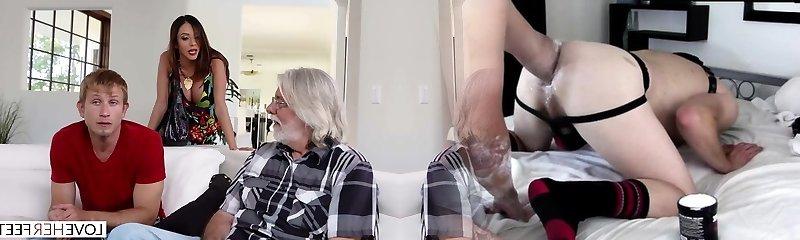 LoveHerFeet - Step-mother Wants My Cum On Her Feet