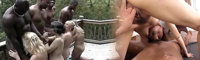 Big Dark-hued Cock Suck Off
