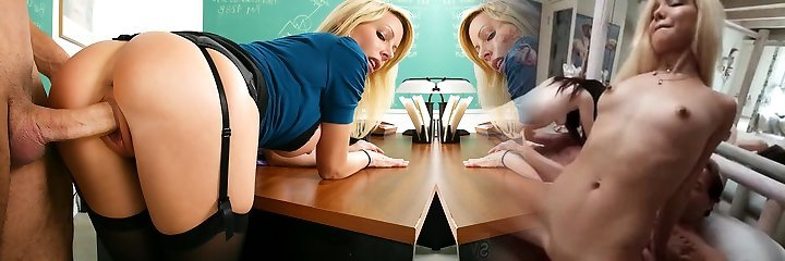 Holly Sampson & Danny Mountain in My Very First Hookup Teacher