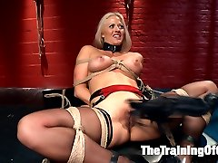 Slave trainee Holly Heart is fucked hard in all her slutty holes on TrainingofO.com!