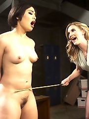 Sadistic lesbian detective Mona Wales, trains hot new detective deputy, Milcah Halili, in the techniques of successful interrogation! Milcah learns to be a tough bitch by enduring humiliation, spanking, fingerbanging, flogging, nipple clamps, caning, fisting, face sitting, squirting orgasms, pussy and anal strap-on fucking, and an intense waterboarding session using Mona's squirt!