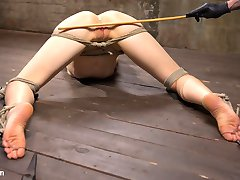 Lilith is new and learning what she likes and dislikes. She wants to be pushed to see what her limits are, so I push this slut as hard as I can. The day begins with extreme pain to se what this little slut is made of. Her nipples and pussy lips are clamped and then stretched. The impact ranges from flogging to the deep thud of punching. Her pussy is fucked dry and then we move on to the next position. Her ass is up and every sensitive spot is caned on her body before her pussy is fingered banged into screaming orgasms. The suspension is going to test her ability to get through grueling bondage. She hangs from a single point that is tethered around her waist, but to really torment her the final scene will test everything that makes her thinks she is the strong woman she claims to be.