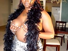 Jamaica is a thick black girl with big natural black 38DD tits. She loves to wear her sexy nurses outfit that barely covers her killer curves