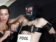 StrapOn Jane humiliates her slave