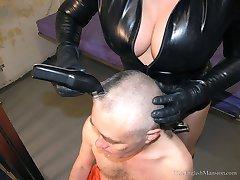 Headshaved by Cruel Warden