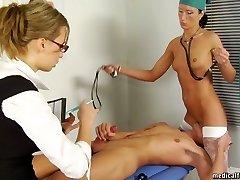 Teen wacking under femdom med control