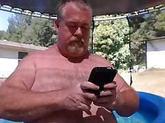 Naked Dad Pool Play